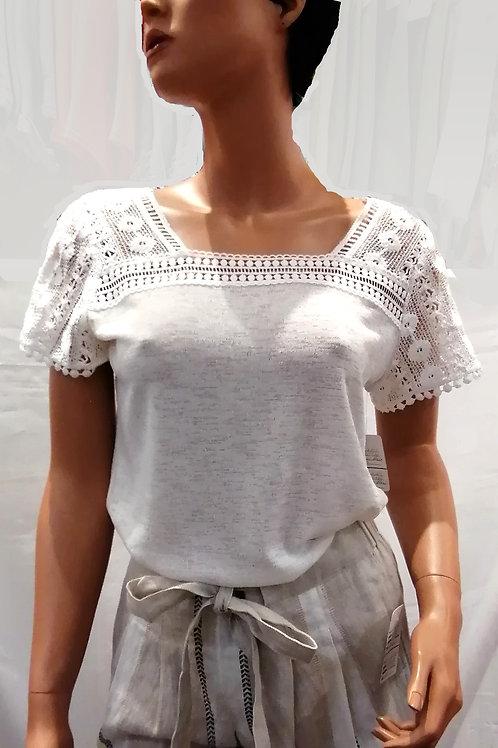 T-shirt avec dentelle Pure 221220