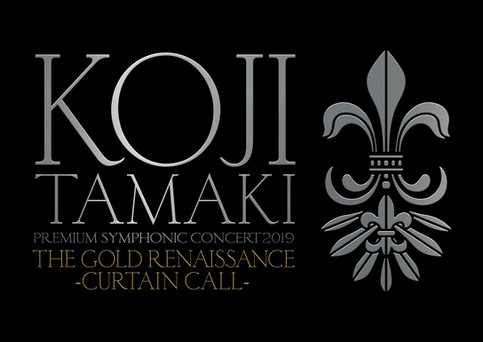 玉置浩二_KOJI TAMAKI PREMIUM SYMPHONIC CONCERT 2019 THE GOLD RENAISSANCE CURTAIN CALL Tour Logo & Goods