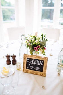 Chalkboard table centre