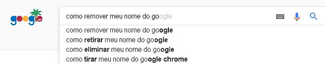 Como retirar meu nome do google