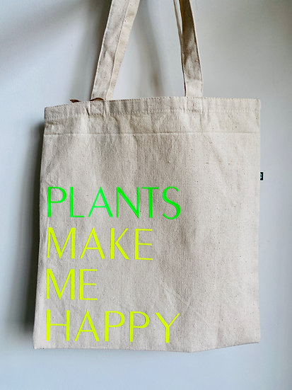 Happy Plants Canvas Tote