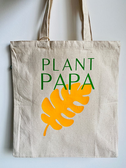 Plant Papa Canvas Tote