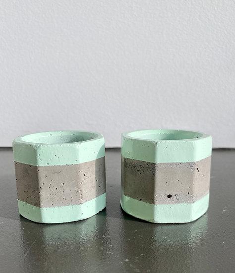 """1.6"""" Mint Concrete Mini Planters"""