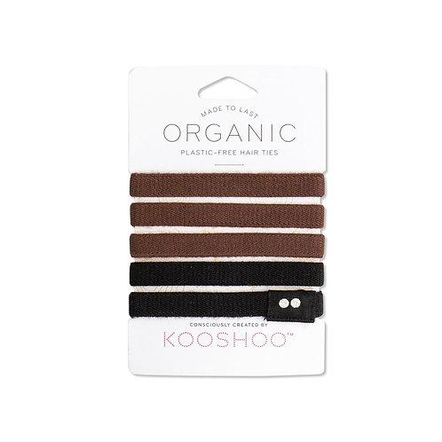 KOOSHOO Plastfrie Hårstrikker, brown