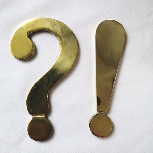 Vintage Brass Paperweights by Knobler of Taiwan