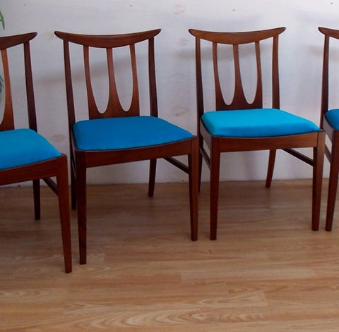 Sensational Mid Century G Plan Brasilia Dining Chairs Squirreltailoven Fun Painted Chair Ideas Images Squirreltailovenorg