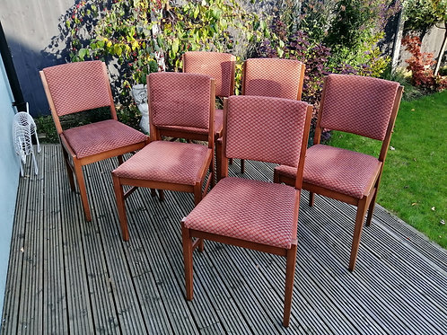 Set of 6 Mid-Century Gordon Russell of Broadway Dining Chairs Original Condition