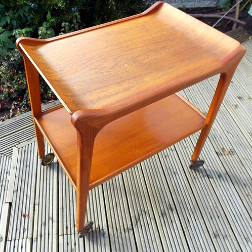 """960S Teak Tea / Drinks Trolley """"THE GLYDER"""" by PARAGON Furniture London"""
