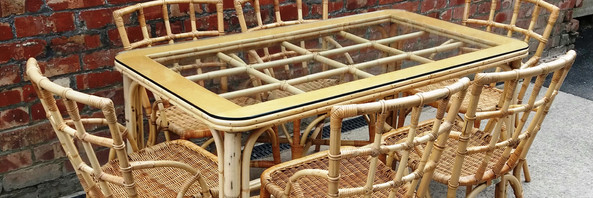 Bamboo Table & 6 Chairs