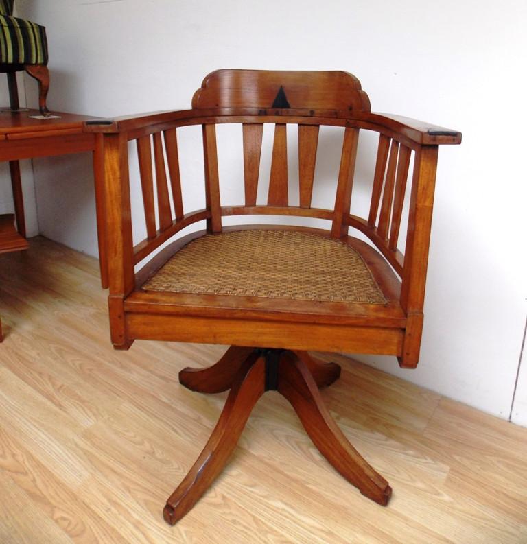 Oak Captains Swivel Chair
