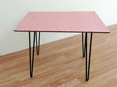 MidCentury 1950s Formica Coffee Table Red & White