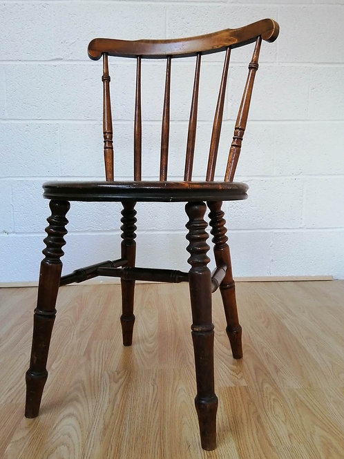 IBEX COUNTRY ANTIQUE KITCHEN CHAIR SWEDISH PINE CIRCA 1900