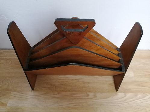 Art Deco Style Plywood Magazine Rack