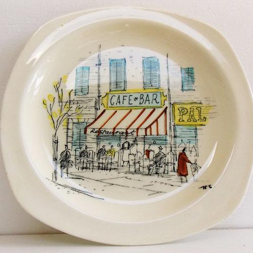 Vintage Set of four 1950s Midwinter RIVIERA Tea Plates HUGH CASSON
