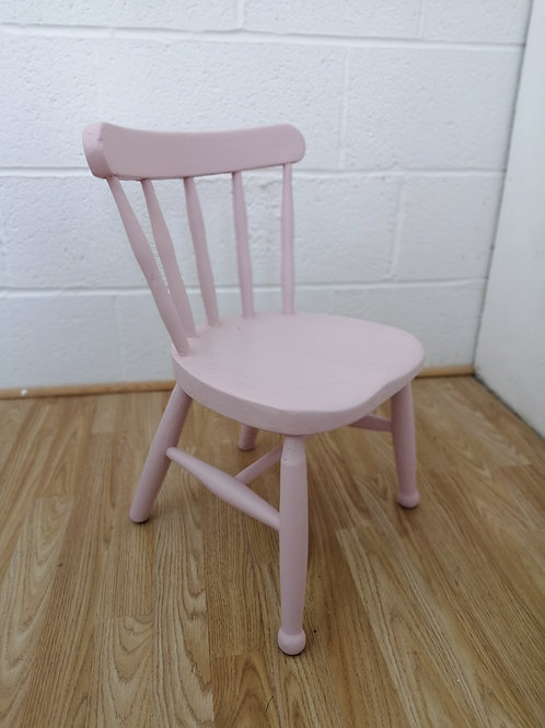 Vintage Childs 1950s Nursery Chair Painted Pink