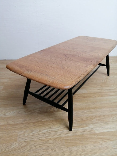 Mid-Century Ercol Coffee Table with Magazine Rack Model 459