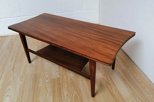 RICHARD HORNBY VINTAGE RETRO AFROMOSIA COFFEE TABLE Danish Style 1960s Heals