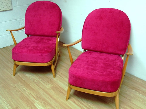Pair of Ercol 1950s 203 Arm Chairs