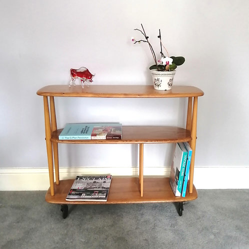 Ercol 361 Trolley Bookcase / Room Divider 1950s