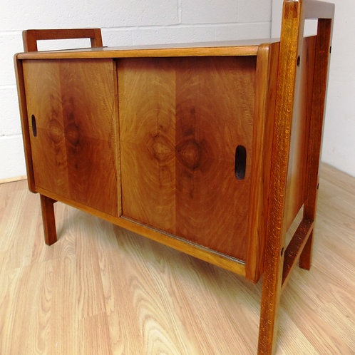 1950s Walnut Magazine / Filing Cabinet