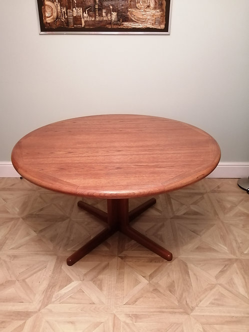 Vintage Teak Double Extending Dining Table Skovby Denmark