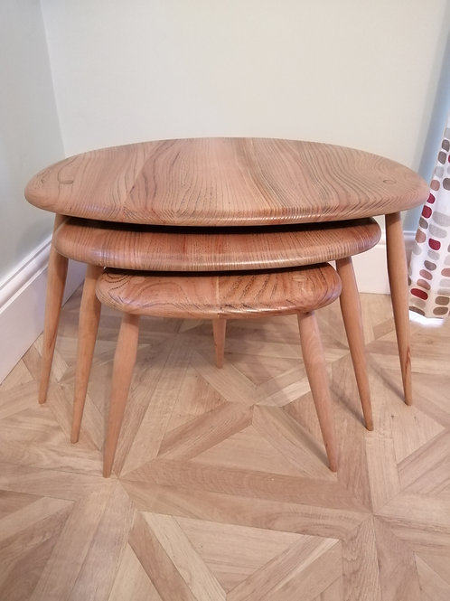 Set of ERCOL Pebbles Tables Refurbished