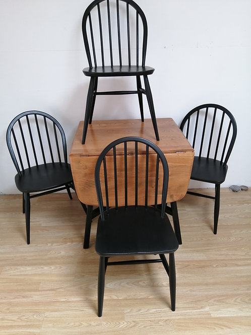 Ercol Drop Leaf Dining Table and Four Chairs