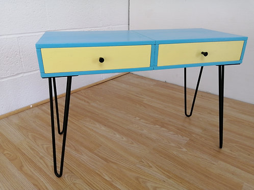 Colourful Console or Side Table with Drawers