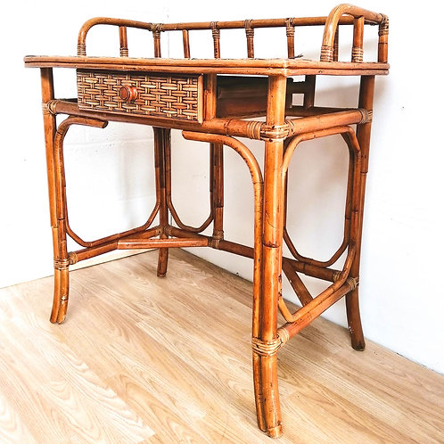 Bamboo & Rattan Dressing Table or Desk