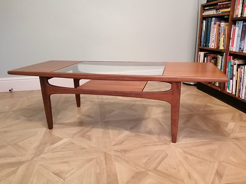 G PLAN Fresco Teak and Glass Coffee Table by  VB WILKINS
