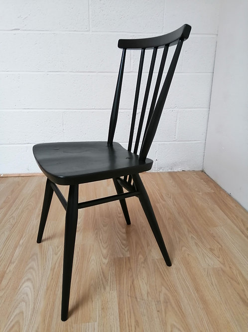 Mid-Century ERCOL 391 Single Chair Painted Black Satin