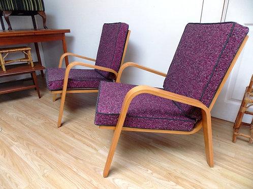 1980s Retro Danish Style Bentwood Armchair