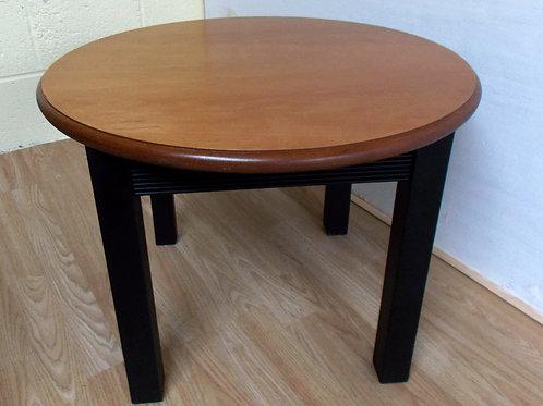 Retro Circular Teak Coffee Table with painted legs