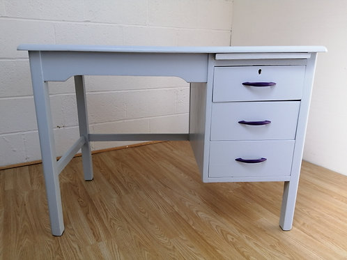 Vintage Compact Hand Painted Wooden Desk