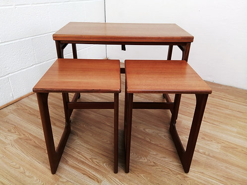 McIntosh of Kirkaldy Triform Nest of Teak Tables