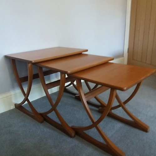 Mid-Century Teak Nest of Tables by Nathan