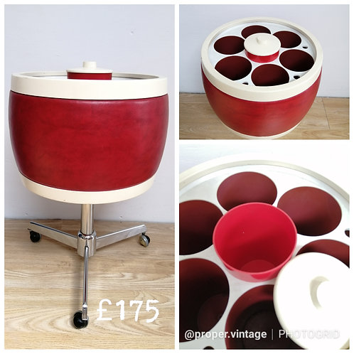 Mid-Century Modern Rare Drinks Trolley for Bottles and Ice