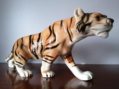 Vintage Royal Dux Ceramic Tiger