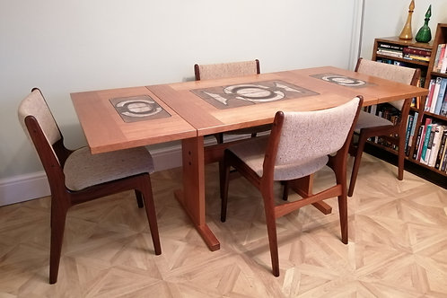 Midcentury Danish Dining Table by Gangso Mobler in Teak