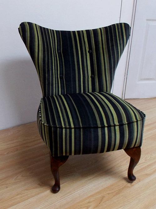 1950s Velvet Cocktail Chair - Reupholstered