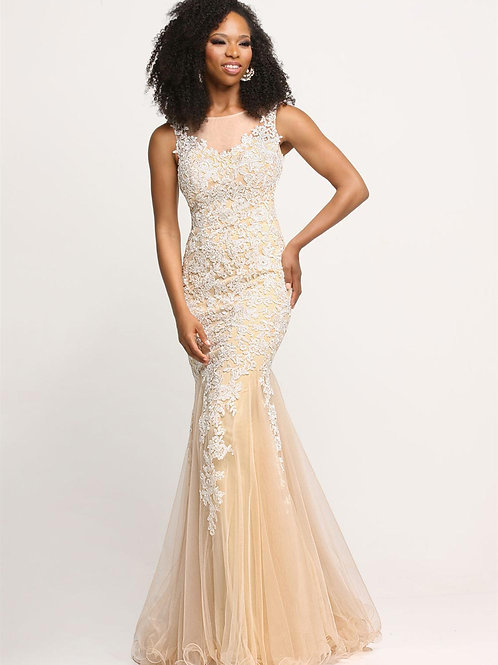 Sparkle 71673 Ivory/Nude Lace Mermaid