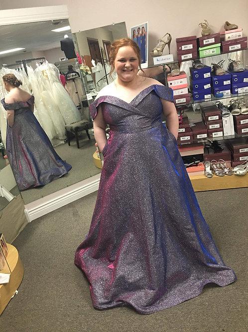 Alyce Paris Blueberry Sparkle Ballgown