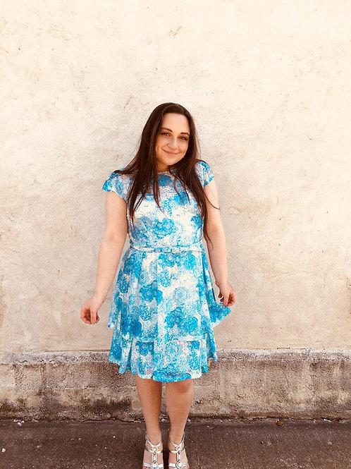 Sweet Blue Lace Dress