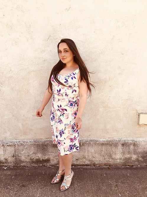 Vibrant Floral Print Dress