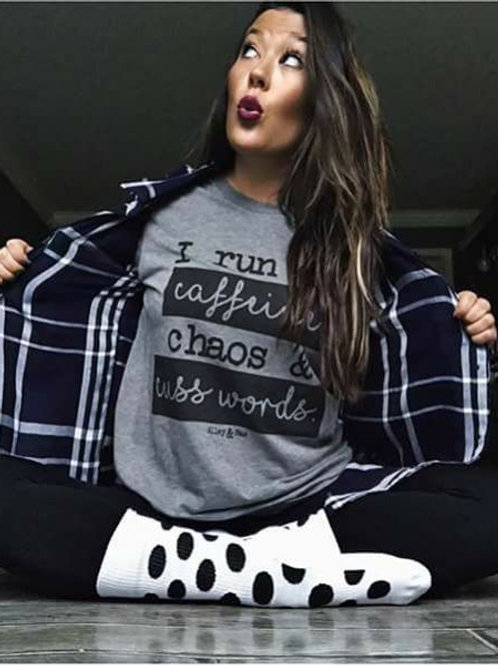 I run on Caffeine Soft Style T shirt