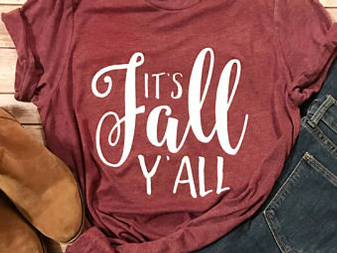 Canvas It's Fall Y'all Soft Style Tee
