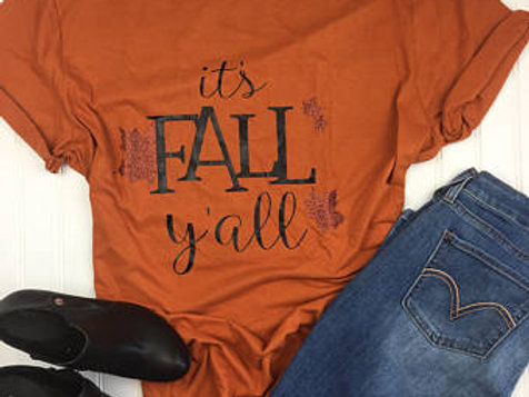 Canvas Unisex Tri Blend Soft Style It's Fall Y'all Tee