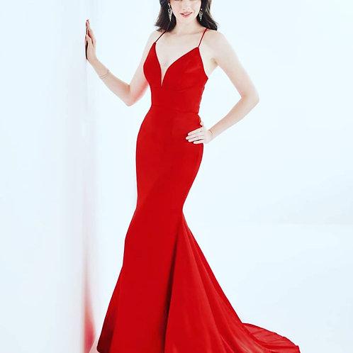 Tiffany Bright Red Mermaid