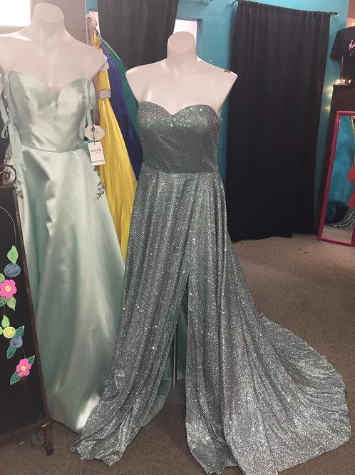 Alyce Paris Jade Sparkle A line Gown