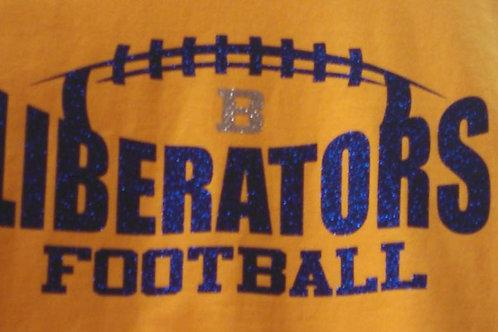 Liberators Glitter Football Soft Style T Shirt